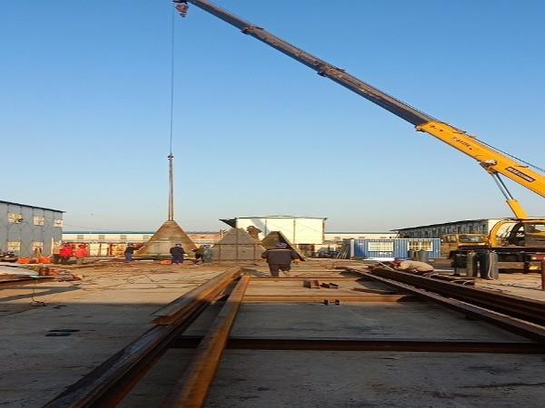 纵横钢铁CO治理施工现场