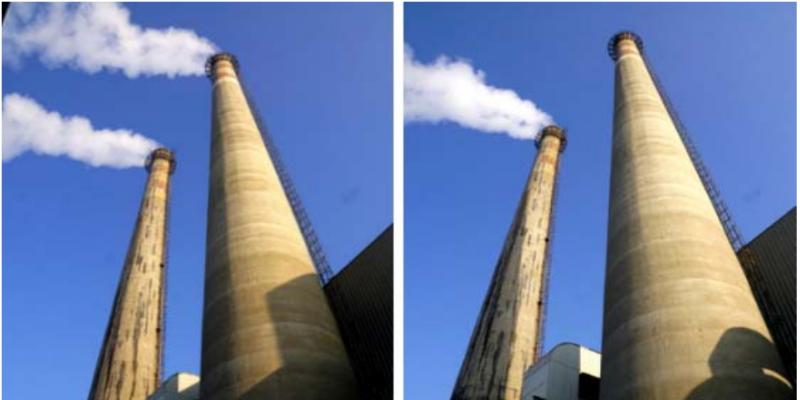 锅炉烟气脱白对比图-博莱达环境