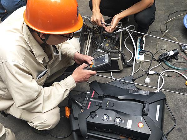 博莱达团队数据检测现场